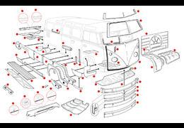 Plaatwerk bus -67 koetswerk