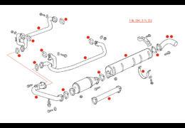 Originele uitlaten Type 25 1.9l DH, 2.1l DJ (XView 5-32)