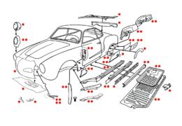 Plaatwerk Karmann Ghia