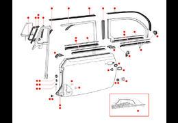 Deurrubbers kever cabrio 50-64