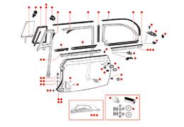 Deurrubbers kever cabrio 65-
