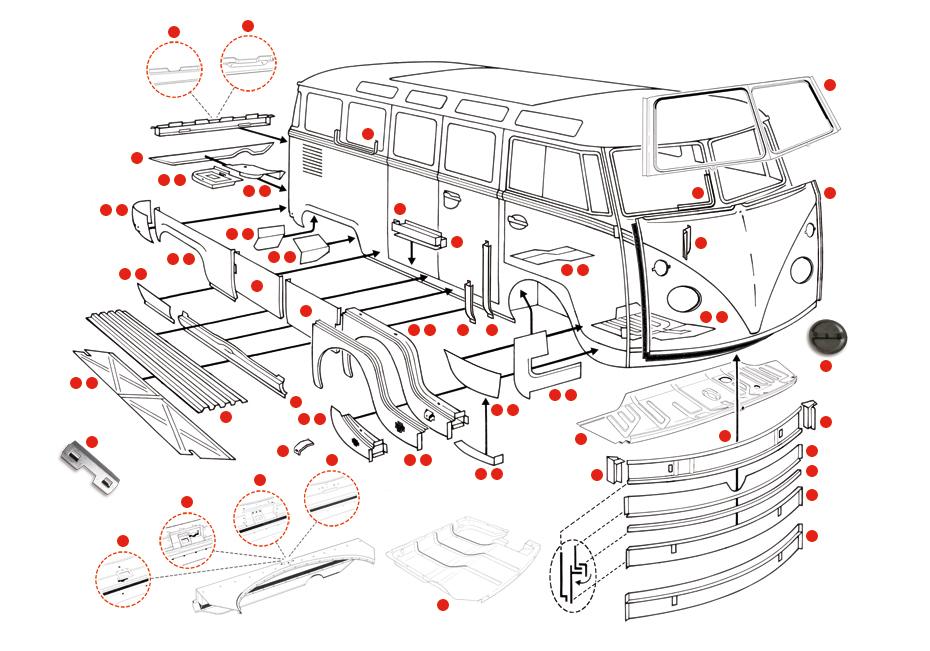 bodywork bus  -67 bodyparts  xview 1-05  catalogue