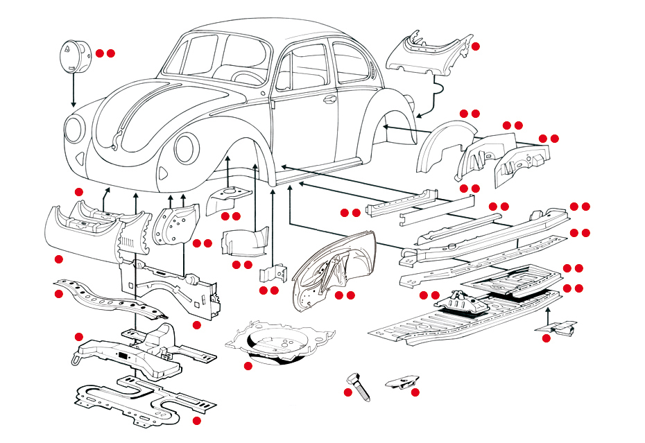 volkswagen beetle parts catalog