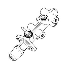 1206 Master brake cylinder double circuit, ATE