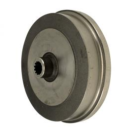 1281-999 Brake drum, rear, without lugs