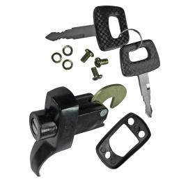 0429-001 Decklid lock W/keys - black